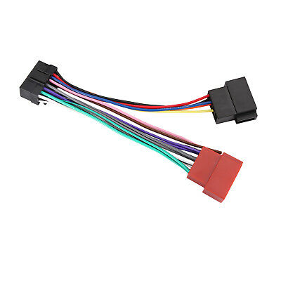 ISO CAR STEREO Radio Wiring Harness Connector Adaptor Cable Loom