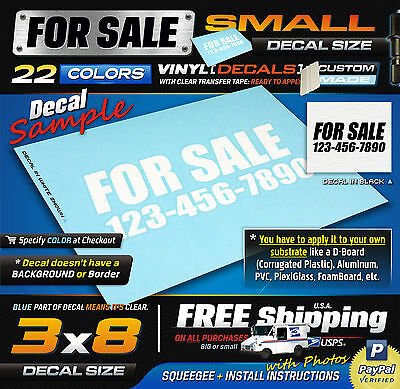 Stickers  Decals, Printing  Personalization, Specialty Services - print for sale sign for car