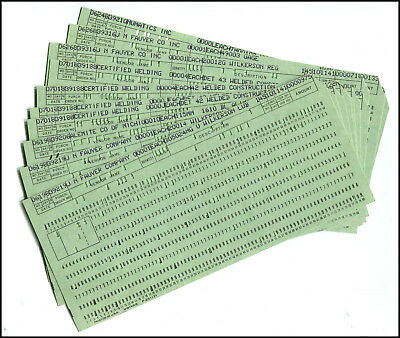 25 VINTAGE UNIVAC computer Punch Cards - (Sperry Rand) - mid-century - punch cards