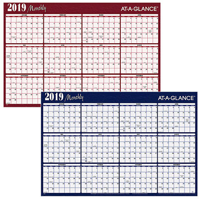 2019 MONTHLY AT-A-GLANCE A152, A152-19, Dry Erase Wall Calendar, 32
