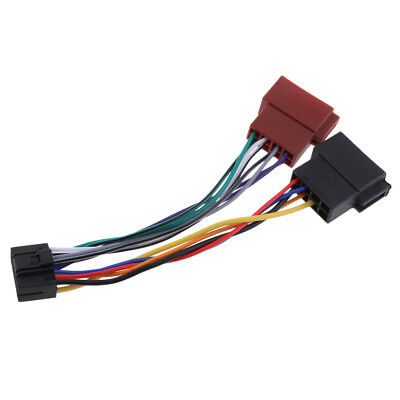 CAR RADIO CABLE Adapter Plug Din ISO Wiring Harness 16Pin for