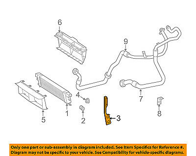 MERCEDES OEM 03-06 S600 Engine Oil Cooler-Oil Cooler Bracket Left