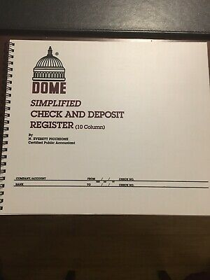 DOME PUBLISHING DOM-210 Check And Deposit Register - 50 Sheets - 85
