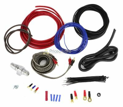 8 GAUGE AMPLIFIER Wiring Kit Car Audio Amp 8G Installation Install