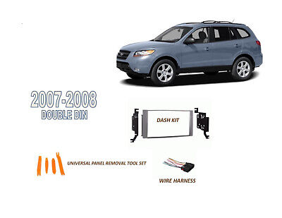 FITS 2001-2006 HYUNDAI SANTA FE CAR STEREO DOUBLE DIN INSTALL KIT