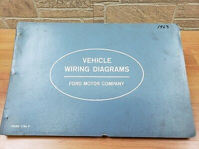VINTAGE 1963 FORD Wiring Diagrams Car and Truck Falcon Comet