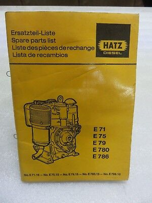 HATZ DIESEL PARTS MANUAL DIESEL ENGINE L Series - $1500 PicClick AU