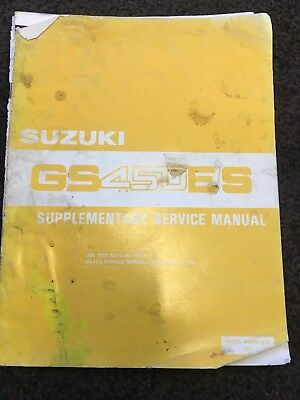 SUZUKI GS450 E S Genuine Supplementary Sevice Manual With Wiring