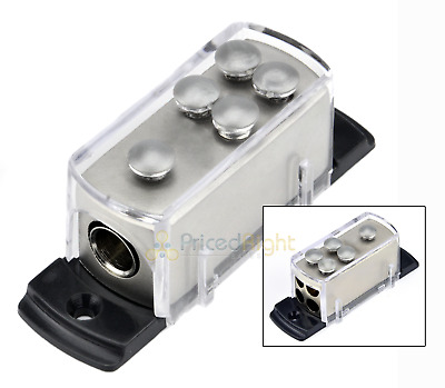 0-4-8 GAUGE POWER Wire Cable DISTRIBUTION BLOCK Splitter Car Audio