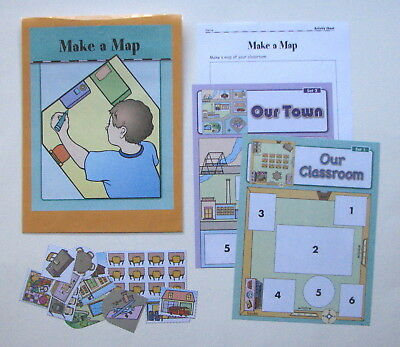 EVAN MOOR GEOGRAPHY Center Learning Resource Game Make a Map Parts