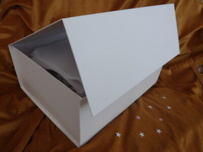 LUXURIOUS LARGE GIFT BOX White Magnetic Wedding Birthday Corporate - large gift boxes with lids