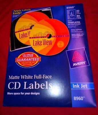 USED AVERY CD/DVD Labels/still in new condition in original