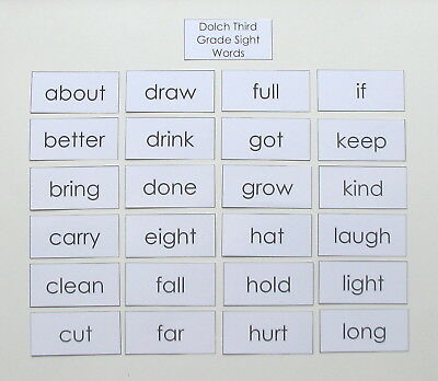 TEACHER MADE LITERACY Learning Resource Dolch Third Grade Sight Word