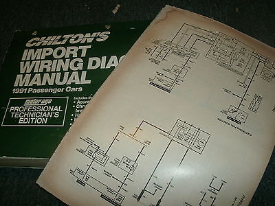 1991 TOYOTA CAMRY Oversized Wiring Diagrams Schematics Manual Sheets