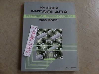 2003 TOYOTA CAMRY Solara Electrical Wiring Diagram Service Shop