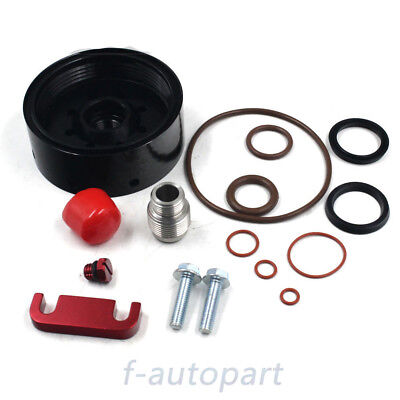 RED FOR CHEVY DURAMAX Spacer,CAT Fuel Filter Adapter,Bleeder,Seal