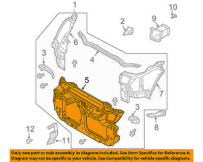 NISSAN OEM 03-07 350Z Radiator Core Support-Center Bracket