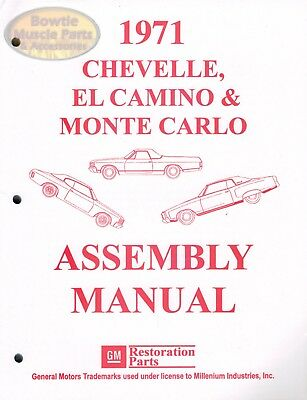 1970-1971-1972 FACTORY ASSEMBLY Manual CD El Camino Chevelle Monte