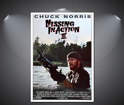 MISSING IN Action II Chuck Norris Vintage Movie Poster - A1, A2, A3