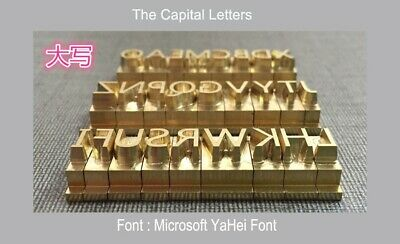 Custom 26 Alphabet Letter Brass Leather Stamp With T Slot