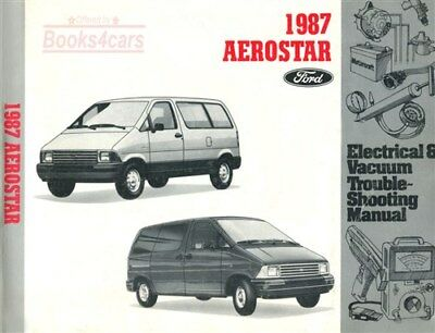 1987 FORD AEROSTAR Service Repair Shop Manual  Electrical Wiring