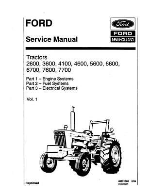FORD TRACTOR 2600,3600,4100,4600,5600,5900,6600,7600 Service Manual