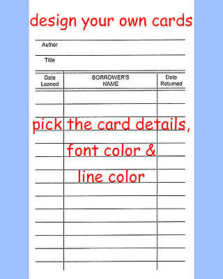 100 LIBRARY LOAN Checkout Classroom Class Book Cards - $1198 PicClick - checkout a book