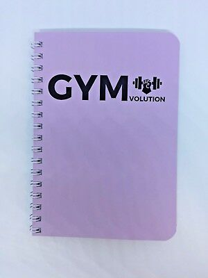 GYM LOGBOOK Workout Diary Exercise and Meals Journal Lilac - £399