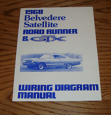 1968 PLYMOUTH BELVEDERE Satellite Road Runner  GTX Wiring Diagram