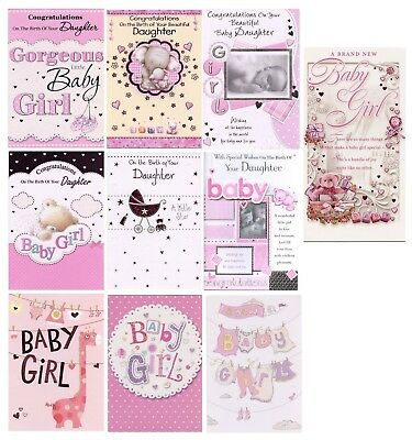 CONGRATULATIONS ON THE Birth Of Your Baby Daughter Cards 1St Pp New - Birth Of Baby Girl