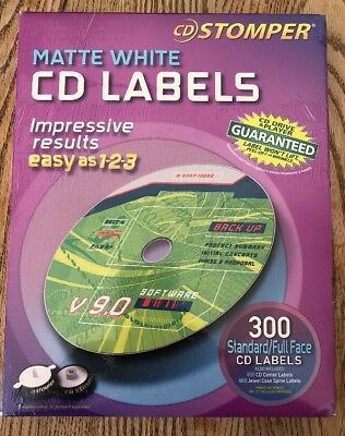 AVERY CD LABELS CD Stomper CD/DVD Labeling System Matte White 300