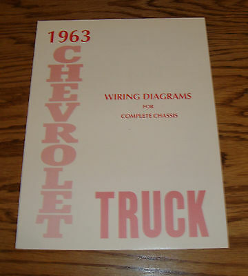 1963 63 Chevrolet Chevy Truck Wiring Diagram Index listing of