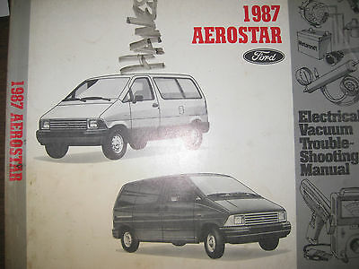 1987 FORD AEROSTAR Wiring Troubleshooting Manual Evtm - $900 PicClick