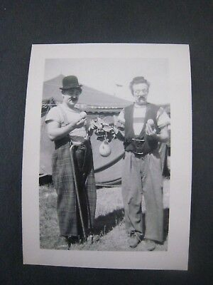 VINTAGE CIRCUS PHOTO Cole Bros BW Elephant Shackled Harness Behind