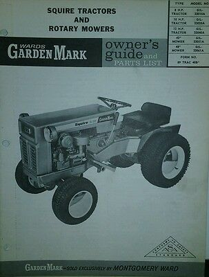 WARDS GARDEN MARK Tractor 1967 Owners  Parts Manual Squire Gilson S