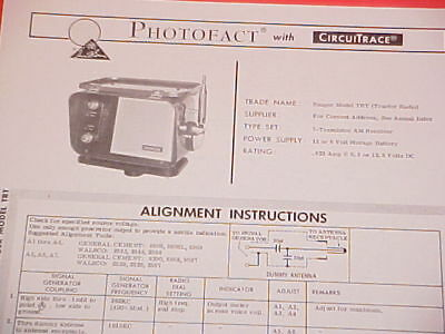 1968 RANGER TRACTOR Am Radio Service Manual Trt Ford John Deere