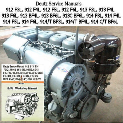 DEUTZ 1012 1013 Manual Bf6m Bf4m Workshop Repair Service
