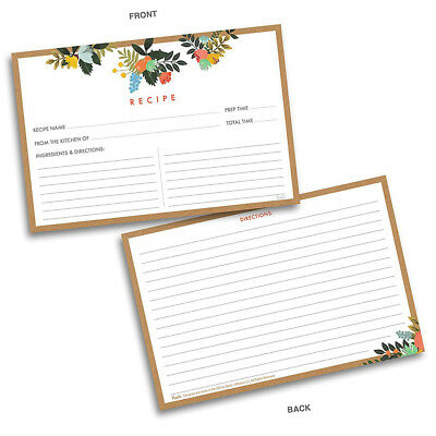 double sided recipe cards - Towerssconstruction
