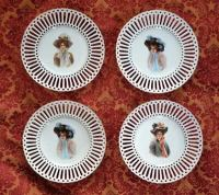 Ribbon Plates Antique & Pretty Antique Porcelain Ribbon