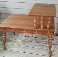 WALNUT MID Century Formica Top Step End Table / Side Table ...