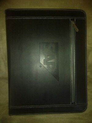 LEED\u0027S BLACK LEATHER Padfolio/Resume Portfolio Folder, Organizer