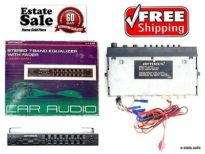 OPTIMUS RADIOSHACK STEREO 7-Band Equalizer with Fader 7A3 Under Dash