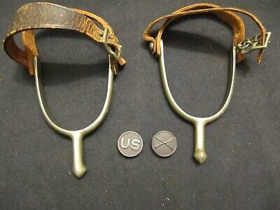 2 WW1 US Army Cavalry Artilerry Spurs With Us And Infantry Uniform