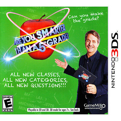 ARE YOU SMARTER Than A 5th Grader? 3DS Brand New - $956 PicClick