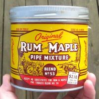 1960'S SUPERB RUM and MAPLE TOBACCO TIN PAPER LABEL CANADA ...