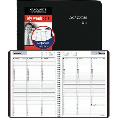 2018 WEEKLY APPOINTMENT Book, 8 x 11 inches Premium Paper Daily