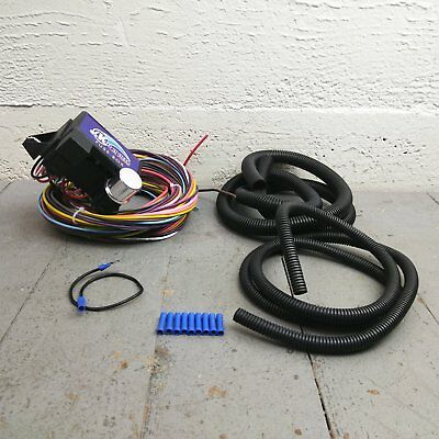 21 CIRCUIT 20 fuse wiring harness, universal, streetrod,ford,chevy