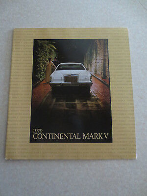 1979 FORD LINCOLN Continental Mark V advertising booklet - $2841