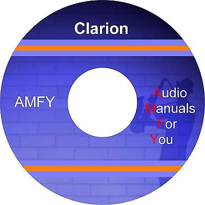 CLARION SERVICE MANUALS, owners manuals and schematics on 1 DVD, all