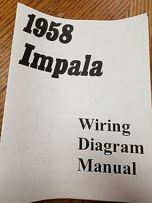 NEW 1965 CHEVY Impala, Belair or Biscayne Wiring Diagram Manual